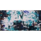 XL Abstract Blue Haven 100 x 50cm Textured Abstract Painting