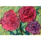 Roses Cold wax oil painting