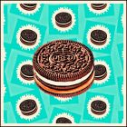 Oreo Biscuit. (Pop art pattern print.)