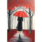 Red Umbrella Lady