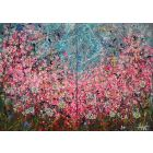Symphony in Pink - Large painting on two panels