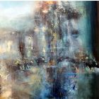 LARGE FRAMED DREAMSCAPE ONEIRIC PAINTING MELANCHOLIA NOSTALGIA SUMMER DREAM BY O KLOSKA