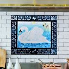 Splashback Mural with Swan and Border Tiles