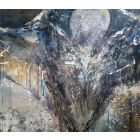 LARGE XXL PAINTING 150 CM STRETCHED ANGEL PAINTING FASCINATING ENERGY HUMAN SPHAPES BY O KLOSKA