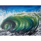 One Wave Painting| Wave Oil Painting on Canvas 30.5cmx45cm | Original Oil Painting