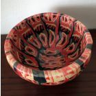 Nerikomi Bowl Red Feather