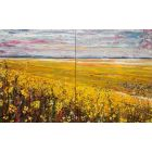 Fields of Gold - Large painting on two panels