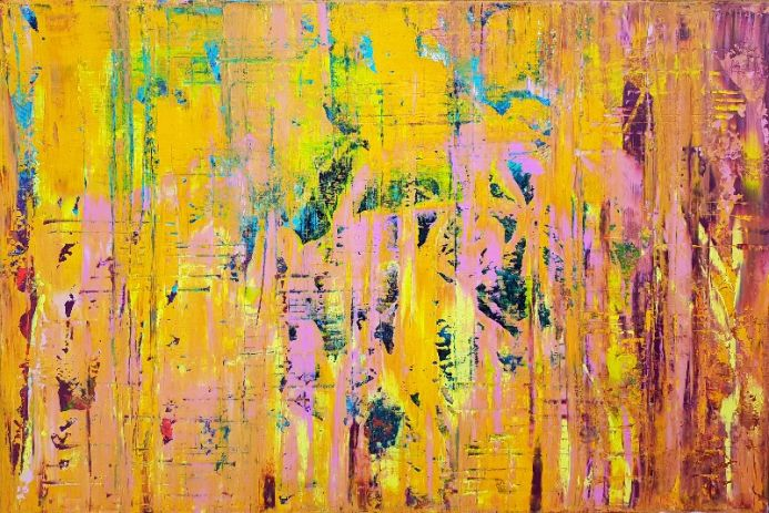 All the Love I have - XXL colorful abstract painting