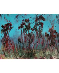 Winter Prelude . Landscape floral  painting.