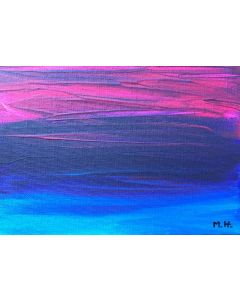 Blue and purple abstract acrylic painting nr 2
