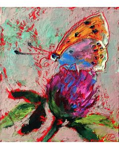 Butterfly Miniature Oil Pastel Painting
