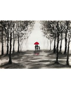 Love couple with red umbrella nr 6