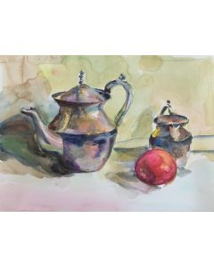 Still life with silver pots