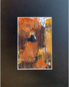 The burnished wood - original painting within a mount
