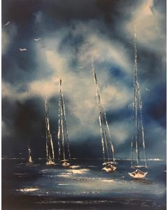 The sailing boats I - Medium