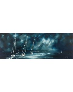 Stormy sailing (panoramic)
