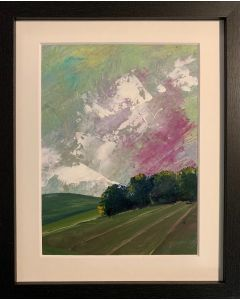 Dreaming as the days go by.. - framed original oil painting