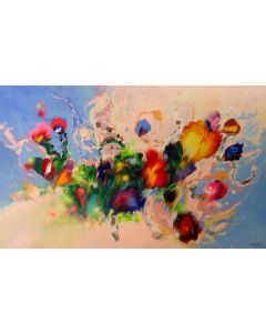 """""""Dance of flowers"""" Extra Large Painting"""
