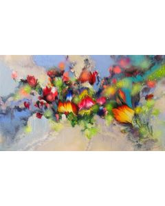 """""""Summer Flower Melodies"""" Large Painting"""