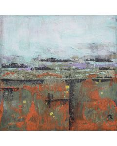 Shifting Landscape 2 - small painting on wood