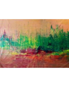 Smell of berries - XXL autumnal abstract landscape