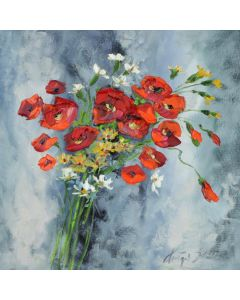 Field bouquet with poppies