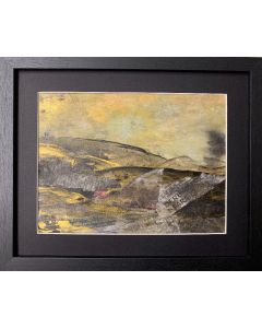 A walk on the Moortop - original framed painting