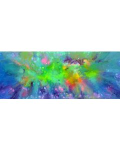 FREE SHIPPING - Happy Harmony XX - 150x60 cm - Big Painting XXXL - Large Abstract, Supersized Painting - Ready to Hang, Hotel Wall Decor