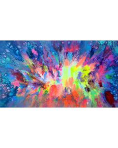 55x31.5'' FREE SHIPPING Large Ready to Hang Abstract Painting - XXXL Huge Colourful Modern Abstract Big Painting, Large Colorful Painting - Ready to Hang, Hotel and Restaurant Wall Decoration, Beautiful Madness