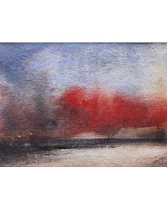 SILVER BAY SUNRISE ANGLESEY. Original Impressionistic Seascape Watercolour Painting. With mount / mat.
