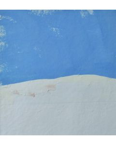 HIGH POINT. Original Abstract Landscape Acrylic Collage Painting. With mount (mat).