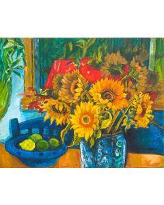 Sunflowers Lemon and Limes still life