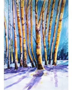 WINTER BIRCH TREES LANDSCAPE