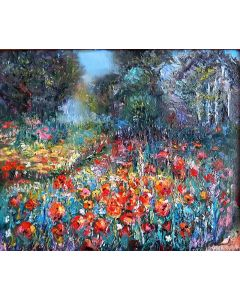 Poppies in the forest