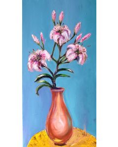 Lily orchids in a vase