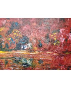Red Autumn landscape