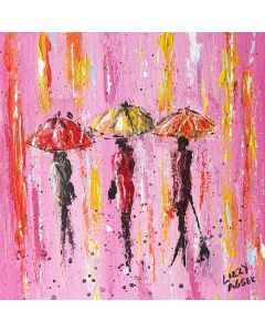 Fuchsia Shower - Original Acrylic Painting on Canvas