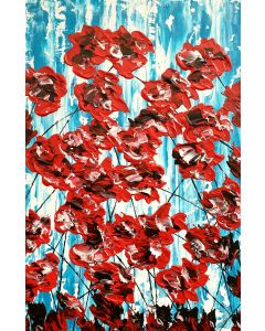 Poppies On Blue 2
