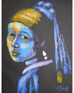Girl With A Pearl Earring And Yellow Scarf - Portrait