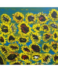 Blooming sunflowers 4