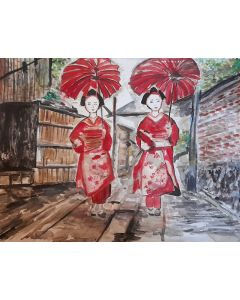 Two Pair of Geisha Ghosts Street View