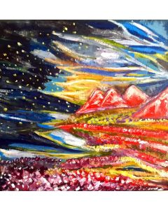 The Magical Realm Starry Sky And Mountain