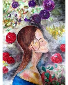 Rose Bush and the Girl