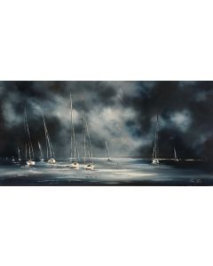 Sail boats at sea PANORAMIC