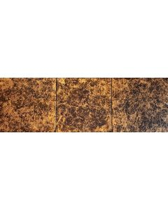 Lost in thoughts - triptych golden and black abstract