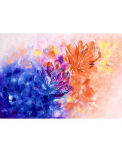 Floral oil painting| Abstract Flowers Canvas