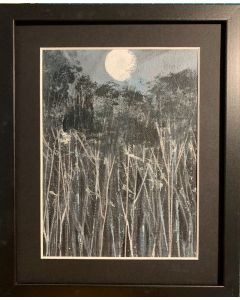The languid lips of the night - framed original oil painting