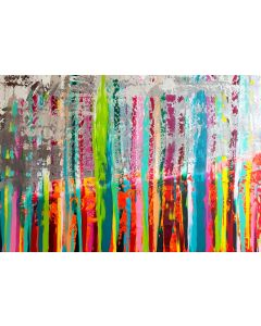 Flames of childhood - XXL colorful abtract painting