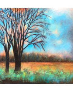 Abstract tree painting by Jo Starkey