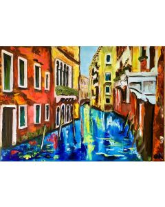 Venice, canal,  water reflections